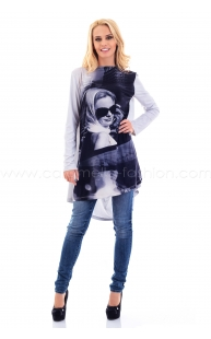 Loose Front Printed Tunic