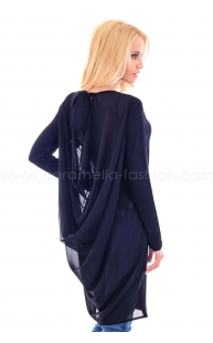 Tunic with hanging back
