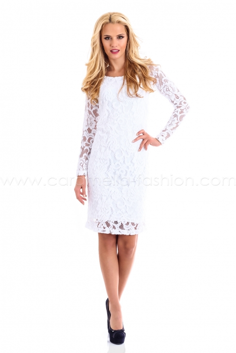 White Lace Dress 001169