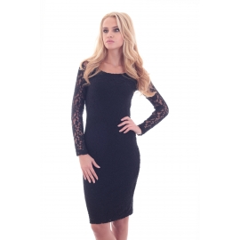 Black Fitted Lace Dress