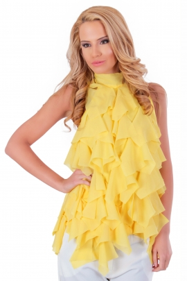 Топ Drape yellow