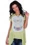 Аsymmetric cotton tunic in light green 002119 1