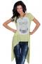 Аsymmetric cotton tunic in light green 002119 2