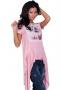 Asymmetric tunic in pink 002123 2