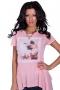Asymmetric tunic in pink 002123 3