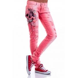 Jeans Pink Skull