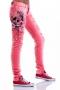 Jeans Pink Skull 005044 4