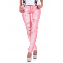 Jeans Pink hole
