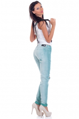Jeans Green Hole