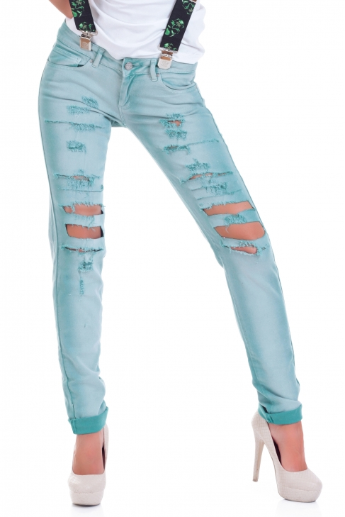 Jeans Green Hole 005050