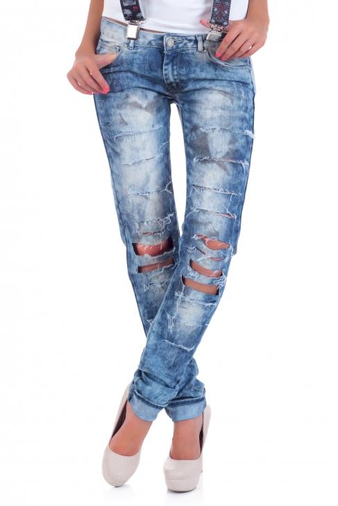Jeans Petrol hole 005051