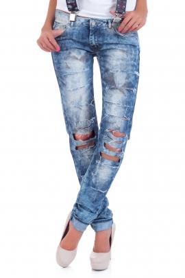 Jeans Petrol hole