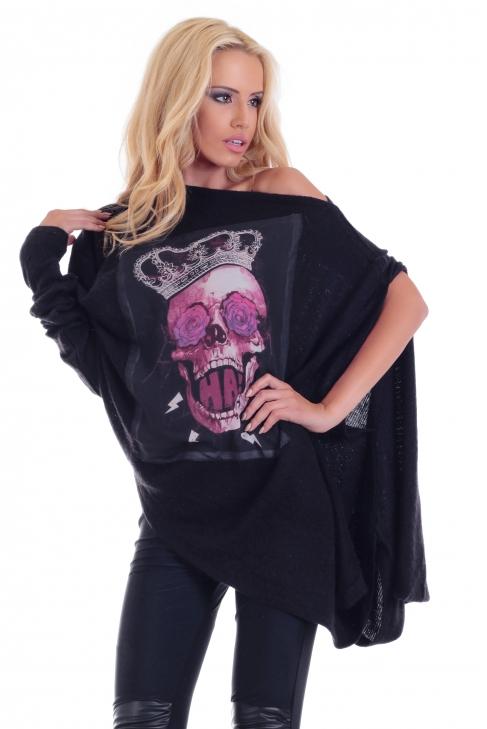 Tunic Dark skull 002140