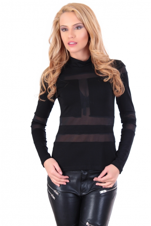 Top Black Lace Stripe 002139