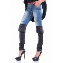 Дънки Leather boot