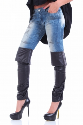 Jeans Leather Boot