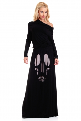 Dress Black Skull