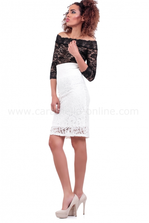 Skirt Ecru Lace 004084