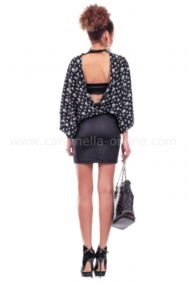Dress Black Skull Mini
