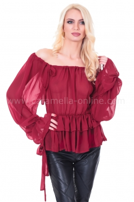 Blouse Borgund Wine