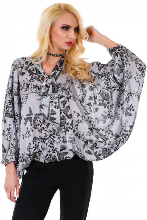 Blouse Silver Flower 022054