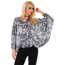 Blouse Silver Flower