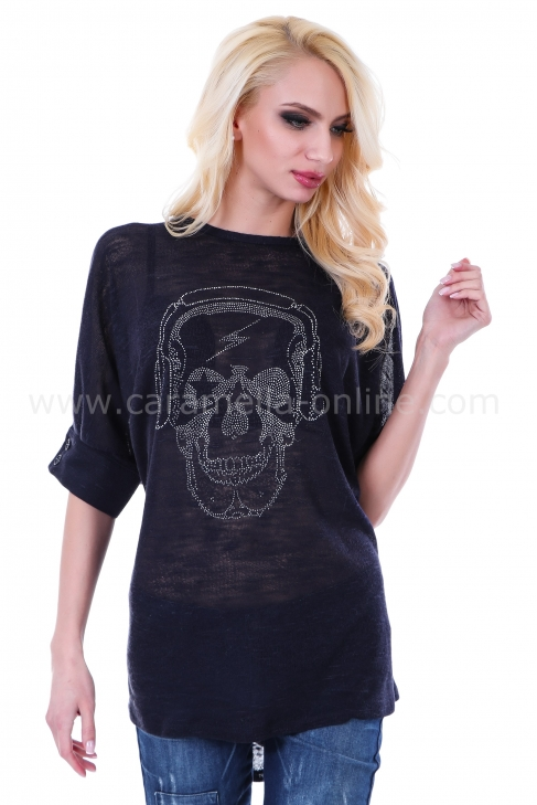 Tunic Blue Skull 022058