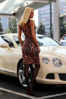 Рокля Pink Leopard