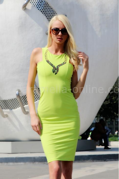 Dress Green Neon 012088