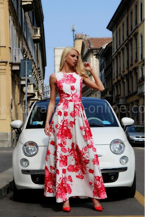 Dress Red Flower 012089