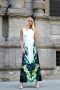Dress Green Flowers 012094 4