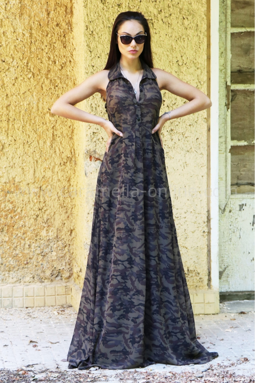 Dress Long Military 012124 at the best price - Caramella Fashion