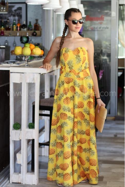 Dress Yellow Pineapple 012145