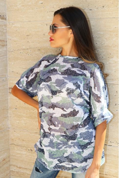 Tunic Camouflage Lila 022110