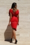 Dress Red Rose 012166 4