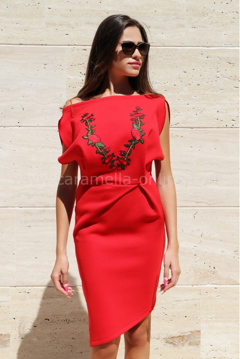 Dress Red Rose 012166