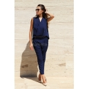 Jumpsuit Blue Velvet