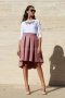 Skirt Pink Luxury Cashmere 032047 5