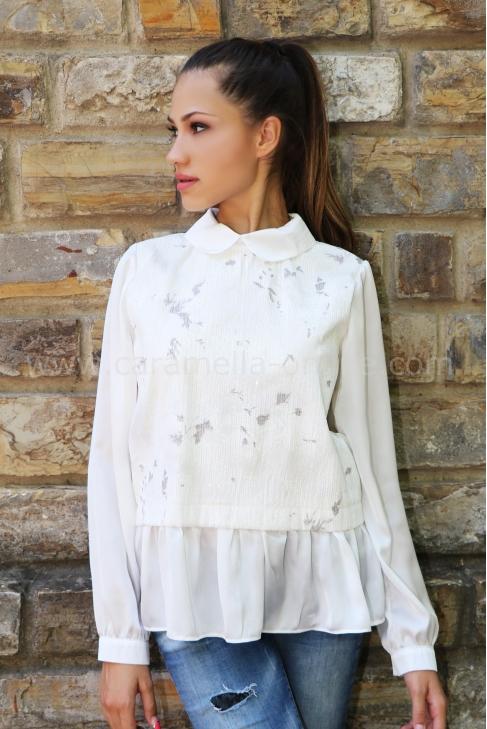 Blouse White Bless 022126