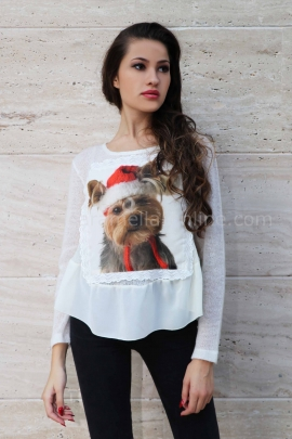 Blouse Christmas Dog