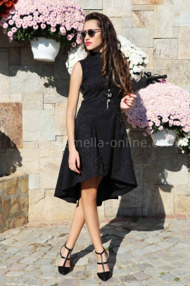 Dress Black Satin