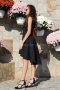 Dress Black Satin 012193 4