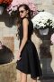 Dress Black Satin 012193 5