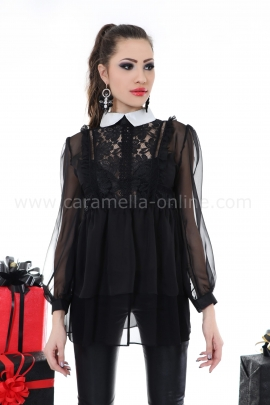 Blouse Black Fancy