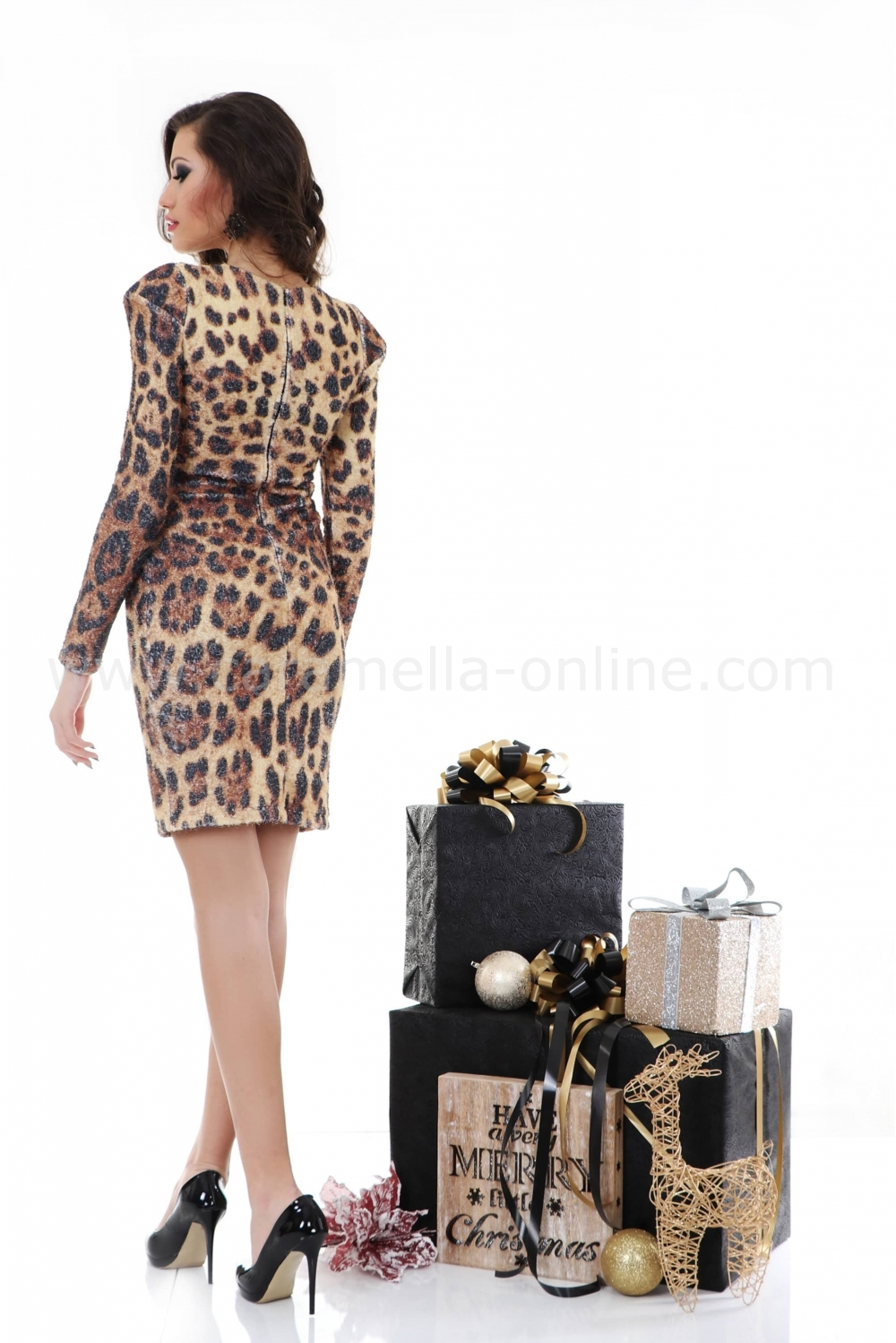 459cf60396e Рокля Leopard 012207 на топ цена — Caramella Fashion