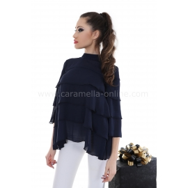Blouse Blue Splash