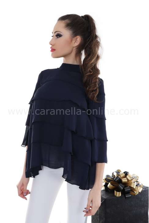 Blouse Blue Splash 022145