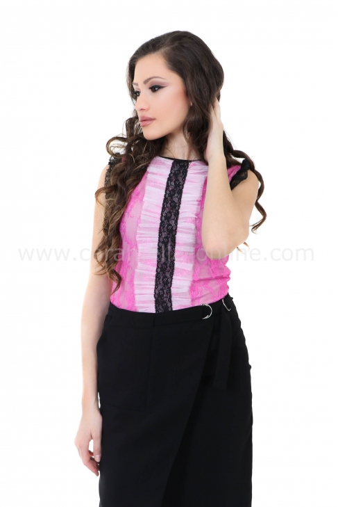 Top Pink Lace 022147