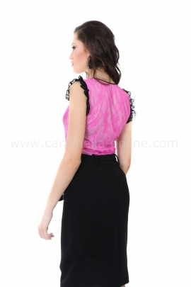 Top Pink Lace