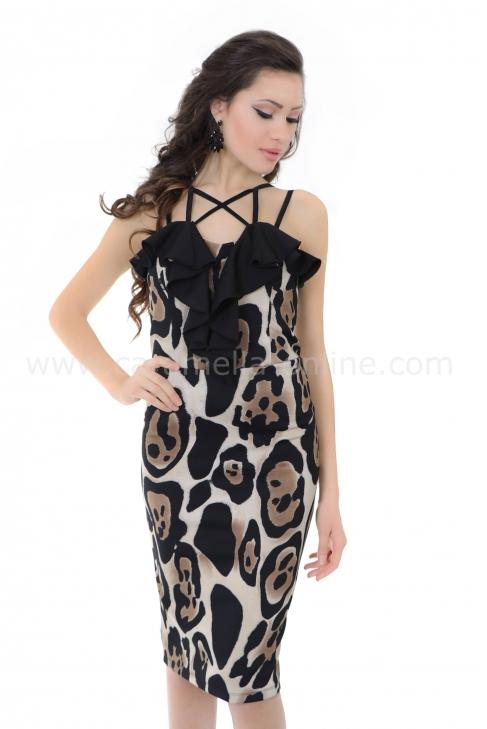 Рокля Leopard Fabiola 012224